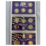 Lot of 2 2003 S US mint proof sets & 2008 missing