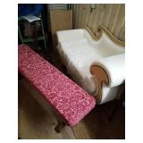 Lot of 2, one is a vintage swan chaise, in very go