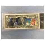 Series 2013 JFK $2 note authenticated uncirculated