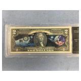 Series 2013 Apollo 11 $2 note authenticated uncirc