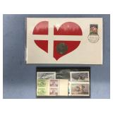 Small lot of assorted postage stamps and first day