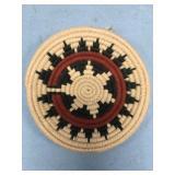 Woolen wedding plate of Native American design abo