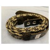 Hand made belt made from horse hair, no buckle, ov