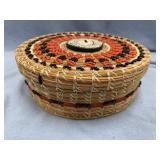 Quiet After the Storm, handmade lidded basket from