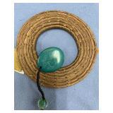 Rising Streak hand woven grass wall hanger made fr