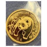 1986 Chinese gold panda            (33)