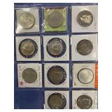 Lot of 11 silver and some alloy coins, foreign
