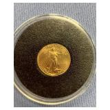 1999 American $5 gold coin, 1/10th of an ounce