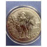 One oz. silver round commemorating prospectors