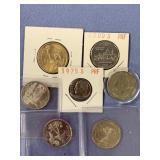 Small bag lot of 7 American coins, many are proof