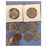 Small bag lot of American coins, many are proof