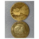 Lot of 2 old foreign coins 1854 France and 1897