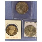 Lot of 3 American coins 2009 S proof, Sacagawea