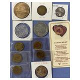 Lot of assorted coins and tokens          (33)