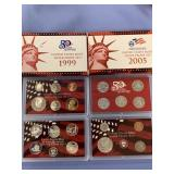 Lot of 2 US mint silver proof sets, 1999, and