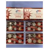 Lot of 2 US mint silver proof sets, 2004 S, 2004