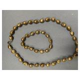 """Lovely 18"""" strand of freshwater pearls with metal"""