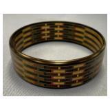 Delicate stack wood bracelet with exotic hard