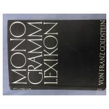 "Hard back book printed in German ""Monogram lexikon"