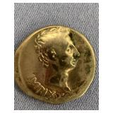Silver Roman coin from reign of Cesar Augustas, 19