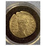 Silver Roman coin Denarius from reign of Severus