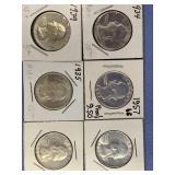 Lot of 5 silver Washington quarters          (33)