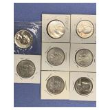 Bag lot of Assorted US quarters 2 are silver