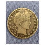 1908 O Barber half dollar          (33)