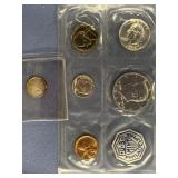 Lot of 2 1964 Mint set and small silver token