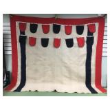 Beautiful Pacific NW style wool blanket with