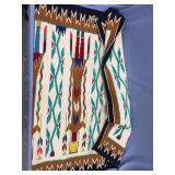 "Hand woven Navajo horse blanket 56"" long"