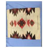 """Old dyed woolen placemat about 19"""" across"""