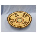 Lovely hand woven grass tray SW American Indian