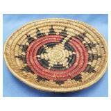 """Hand woven tray, about 10"""" diameter"""