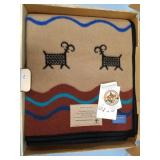 Pendleton woolen blanket still in box, featuring