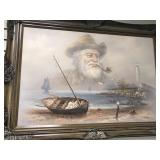 Bill Larsen original oil painting on canvas of a b