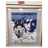 Jon Van Zyle autographed Iditarod poster 1996, wit
