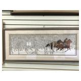 Bev Doolittle signed and numbered, triple matted a