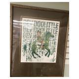 "Matted and framed Bev Doolittle poster, ""The Art"