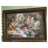 Howard Terpning matted and framed original oil