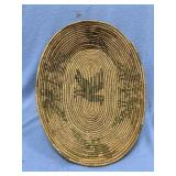 """Old hand woven tray, 11.25"""" long            (P 1)"""