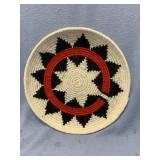 """Hand woven wool wedding tray about 8.25"""" diameter"""