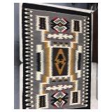 """Hand woven woolen Indian rug  56"""" long"""