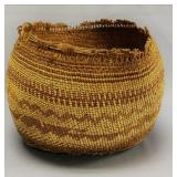 """Snohomish basket, damage with age, 10"""" across 9"""" h"""