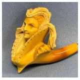 Beautiful French Meerschaum pipe in shape of an ar