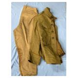 Lot of 2:  a WWI Combat engineer Tunic and a pair