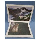 Lot of 2 Patrick Sawyer signed and numbered prints