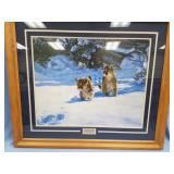 """Double matted and framed print, by Bannovich, """"Cau"""