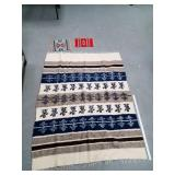 Lot of 3: large wool blanket and 2 Navajo style pl