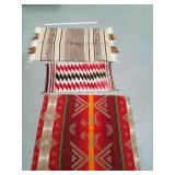 Lot of 3:  2 Navajo horse blankets and a small Nav
